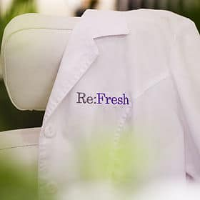 Spa Services:  Skincare, Massage, Makeup, Foot Treatment, Facials, Waxing, Relax, Renew, Re:Fresh
